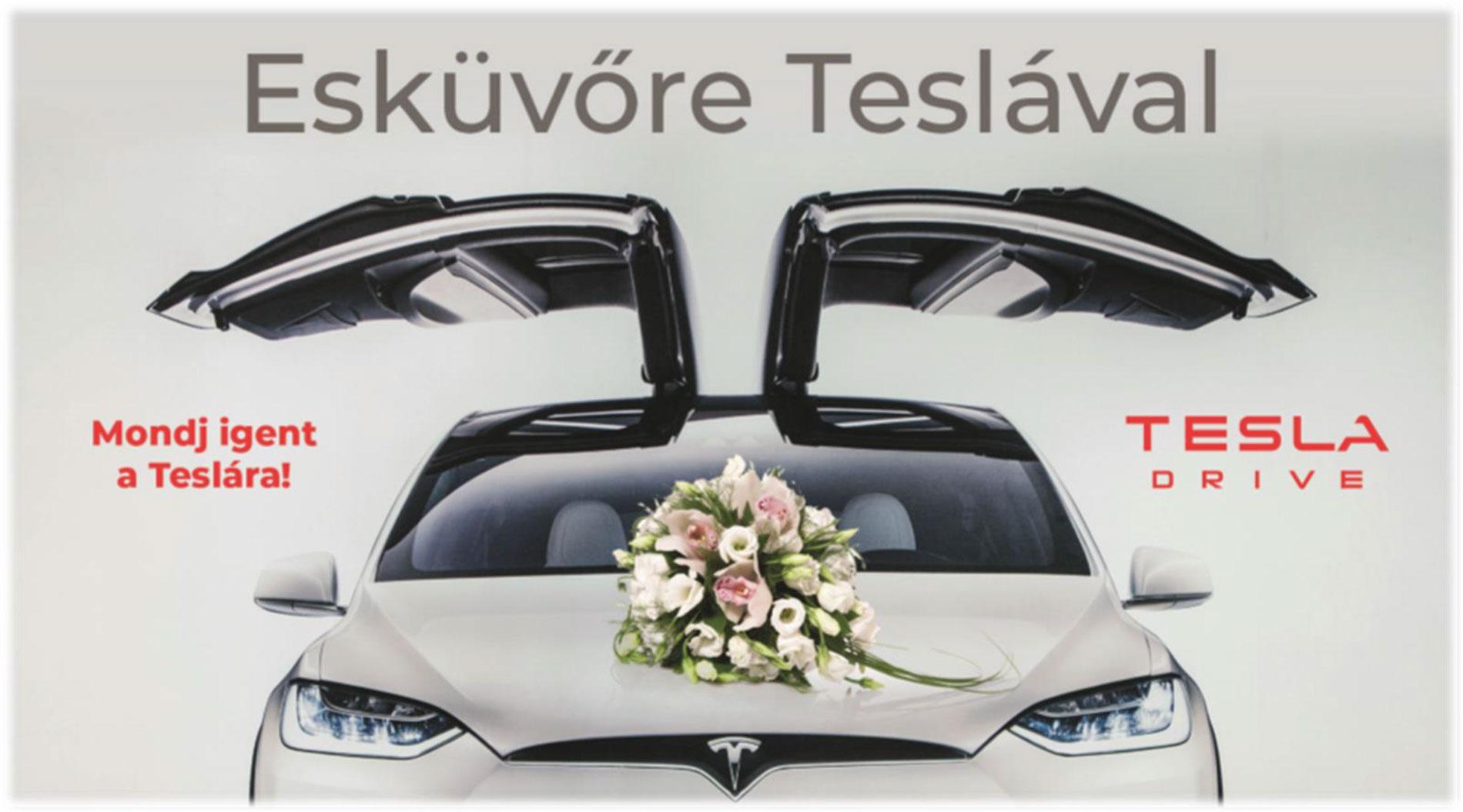 ajanlat - Esküvőre Teslával